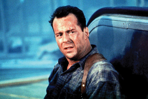 It's always a weird feeling when you see Bruce Willis with hair.