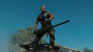 The Rock is credited in this movie as a tank.