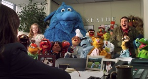 They only got the job because Rashida is terrified of that blue thing!
