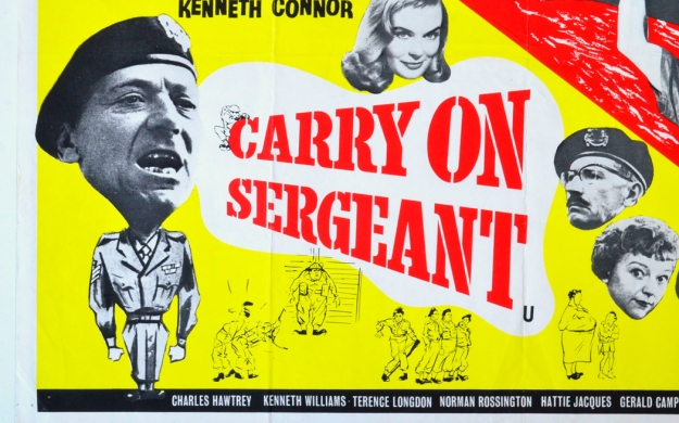 carry on sergeant flame arrow - cinema quad movie poster (1)BL.j